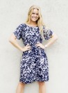 Dia Dia Dress Navy-Lavender thumbnail