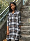 MISSMAYA Aisha Dress Caramel Plaid thumbnail