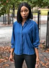 MISSMAYA Amy Blouse Dark Denim thumbnail