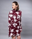MISSMAYA Sienna Dress Burgundy Flower  thumbnail