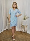 MISSMAYA Irina Wrap Dress Sky Blue thumbnail