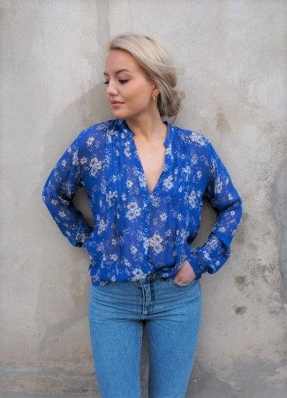 MISSMAYA Sheila Blouse Sharp Blue