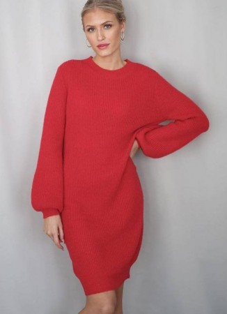 SECRETS BY B Emilie Knit Dress Red