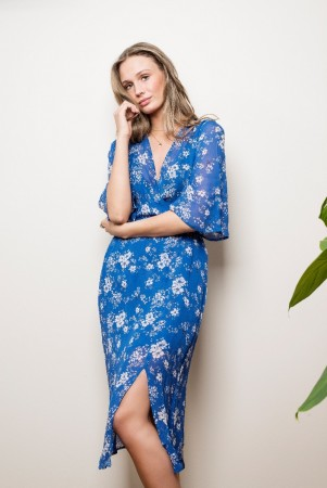 MISSMAYA Mina Long Dress Sharp Blue