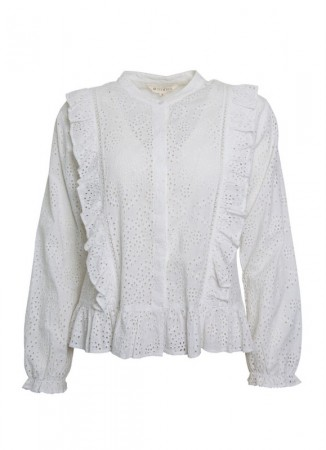 MISSMAYA Paris Embroidered Shirt White