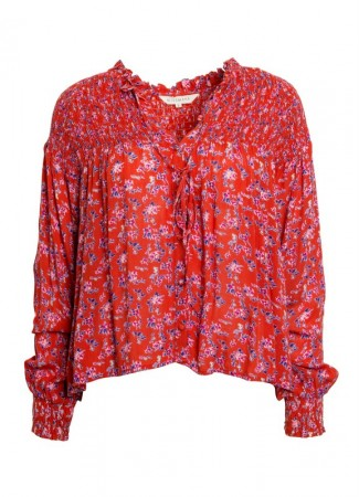 MISSMAYA Sara Blouse Red