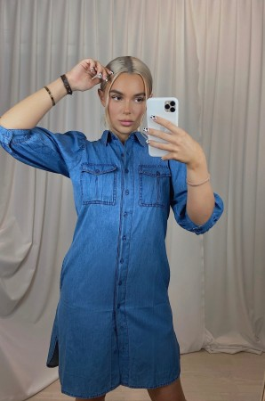 MISSMAYA Hilde Dress Deep Denim
