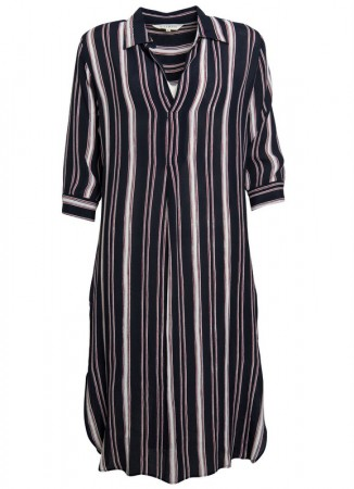 MISSMAYA Anna Dress Navy Red Stripe