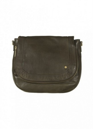 DEPECHE Golden Deluxe Cross Over Bag Army Green