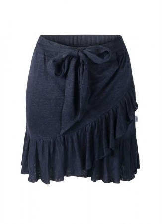 ELLA&IL Juliette Linen Skirt Navy
