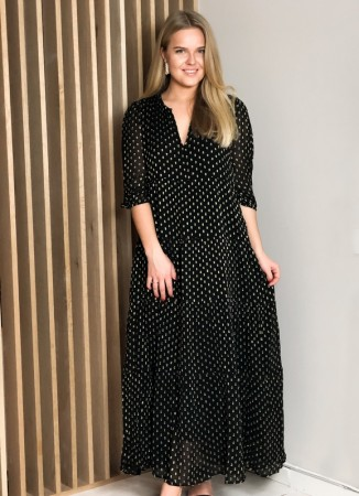MISSMAYA Sofie Maxi Dress Black Lurex