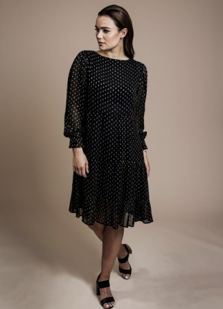 MISSMAYA Vivian Dress Black Lurex