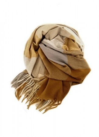 NOMA Big Plaid Scarf Multi Beige