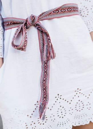 MISSMAYA Embroidered Tie Belt Pink