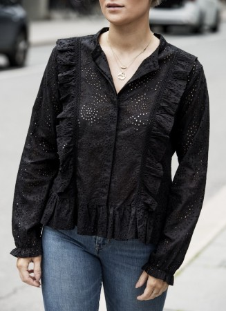 MISSMAYA Paris Embroidered Shirt Black