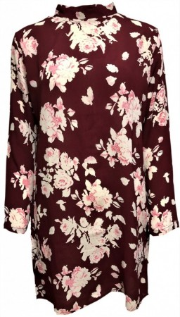 MISSMAYA Sienna Dress Burgundy Flower