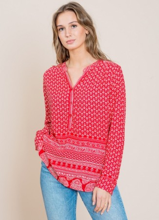 MISSMAYA Neela Blouse True Red