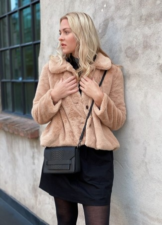 ELLA&IL Anna Fake Fur Jacket Beige