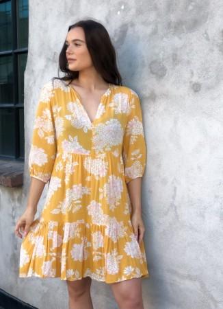 6753f5de MISSMAYA Sofie Mini Dress Yellow Breeze