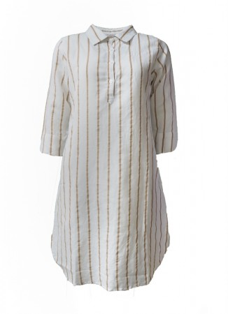 MISSMAYA Aisha Dress Linen Stripe