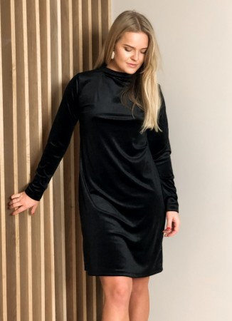 MISSMAYA Sienna Dress Black Velvet
