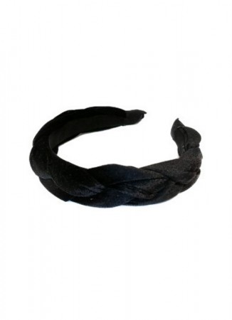 NOMA Headband Velour Braid Black
