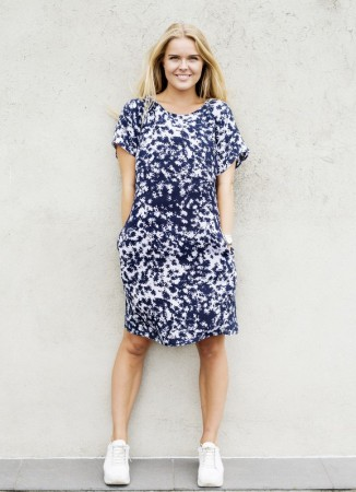 Dia Dia Dress Navy-Lavender
