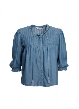 MISSMAYA Cathy Blouse Soft Denim