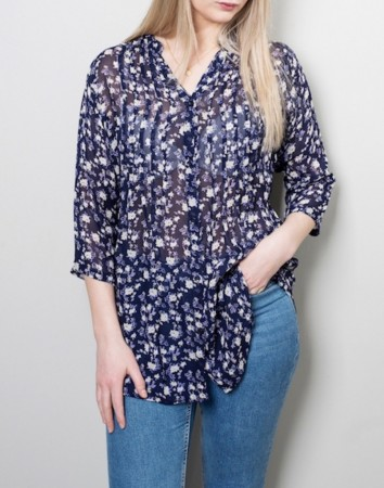 Dia Dia Viscose Blouse Purple White