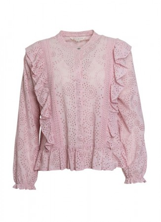 MISSMAYA Paris Embroidered Shirt Pink