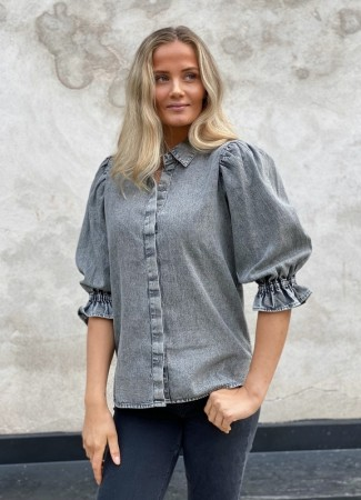 MISSMAYA Amy Shirt Ice Grey