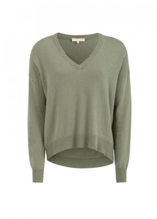 SOFT REBELS Elka V-neck Knit Tea