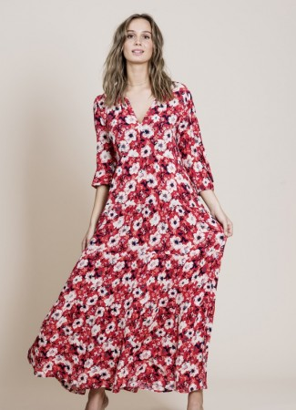MISSMAYA Sofie Maxi Dress Berry Red