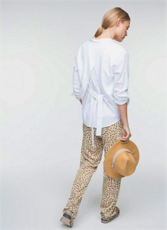 YAYA Blouse back Detail Pure White