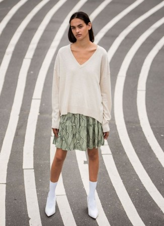 SOFT REBELS Elka V-neck Knit Birch