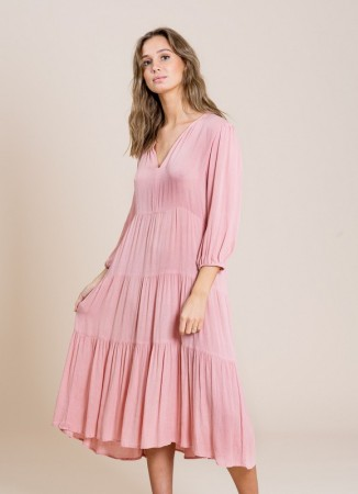 MISSMAYA Sofie Midi Dress Old Pink