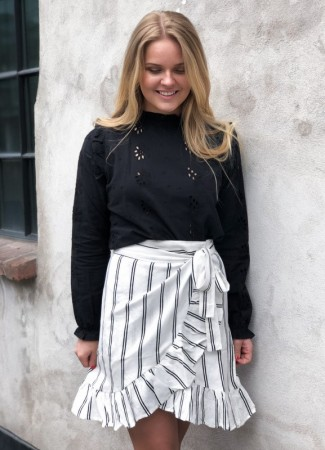 MISSMAYA Ines Wrap Skirt Stripe