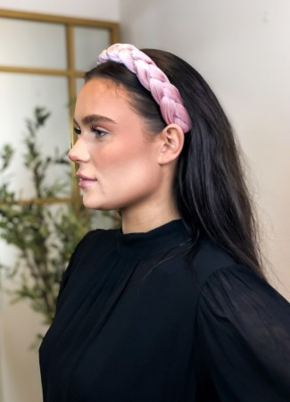 NOMA Headband Velour Braid Dusty Pink
