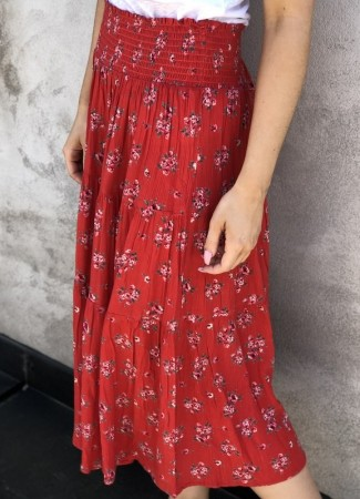 MISSMAYA Thalia Skirt Vintage Red