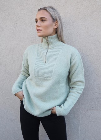 BASIC APPAREL Hermine Knit Soft Green