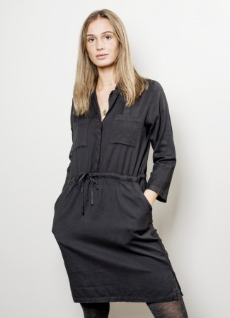 MISSMAYA Shirt Dress Black