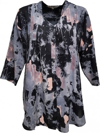 Dia Dia Viscose Shirt Black-Grey-Pink