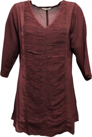 Dia Dia Wrinkle Top Burgundy