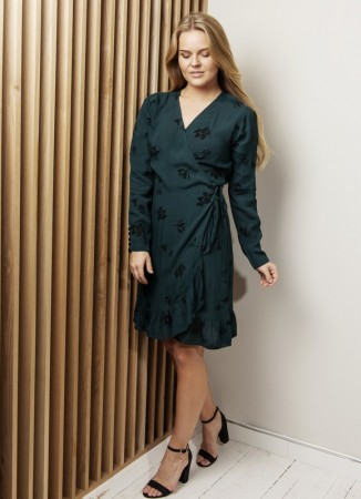 MISSMAYA Saina Wrap Dress Lily Green