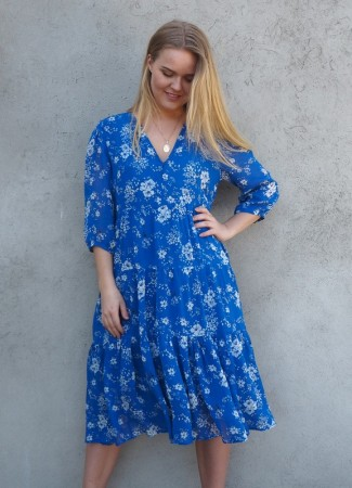 MISSMAYA Sofie Midi Dress Sharp Blue