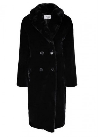 ELLA&IL Trini Fake Fur Jacket Black