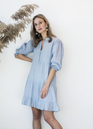 MISSMAYA Lucy Dress Pale Blue Lurex