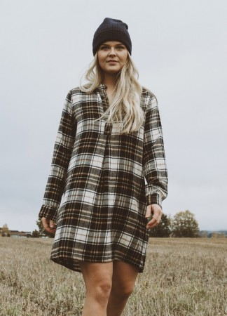 MISSMAYA Sandie Shirt Dress Caramel Plaid