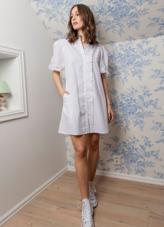 MISSMAYA Ilse Dress Pure White (PRE-ORDER: Lev. Mai)