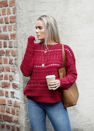 MISSMAYA Vicky Sweater Burgundy